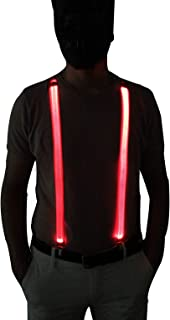 RaveLife Men's Light Up Novelty LED Suspenders for party Night Club Gift