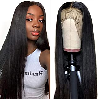 Sponsored Ad - Straight Lace Front Wigs Brazilian Virgin 13×4 Human Hair Lace Front Wigs Glueless Human Hair Wigs For Blac...