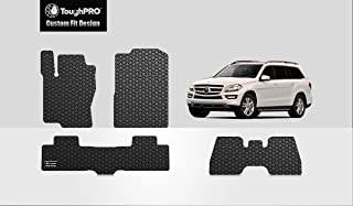 ToughPRO Floor Mats 1st + 2nd + 3rd Row Compatible with M-Benz GL450 GLS350d GLS450 GLS550 GLS63 AMG - All Weather - Heavy Duty - Black Rubber - 2013, 2014, 2015, 2016, 2017, 2018, 2019