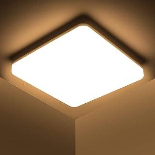Kambo Lampada da Soffitto LED Luce Quadrata 48W Plafoniera LED Moderno IP44 Impermeabile Bianco Caldo 3000K 4320LM per Bag...