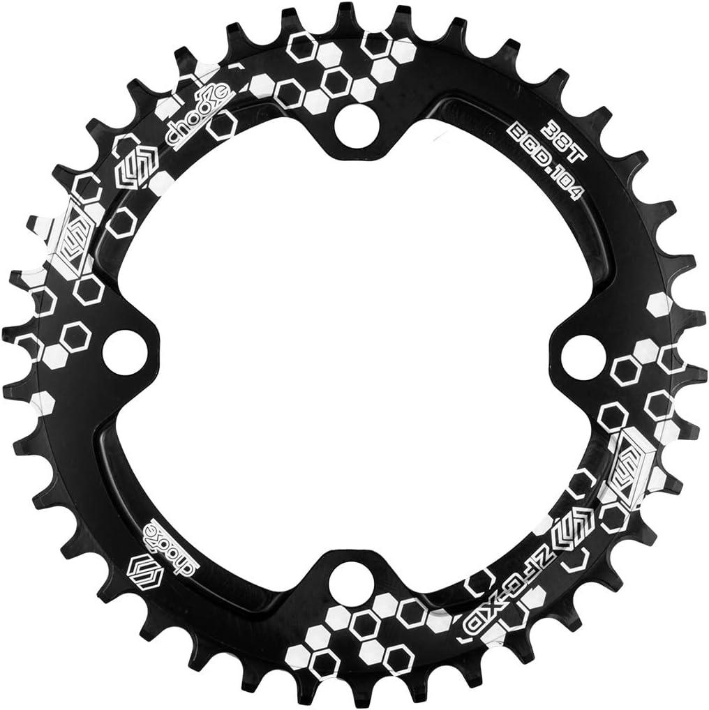Rosso//Nero Solo Corona 30T con 4 bulloni EASTERN POWER Mountain Bike Corona 30T // 32T // 34T // 36T BCD 104 mm Corona 30//32//34//36 Denti Singola MTB in Alluminio