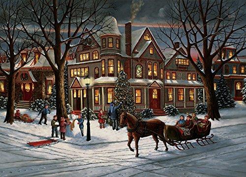 Heiligabend Weihnachtskarten im Kasten (Auf Englisch)
