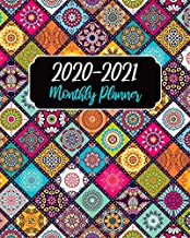 Monthly Planner 2020-2021: Mandala Cover, January 2020 to December 2021 Monthly Calendar Agenda Schedule Organizer (24 Months) With Holidays and inspirational Quotes