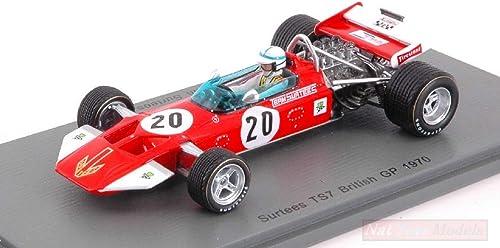 Spark Model S5400 SURTEES TS7 J.SURTEES 1970 N.20 Retirouge British GP 1 43 Model Compatible avec