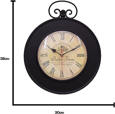 Home Sparkle Wall Clock Mild Steel (Black)
