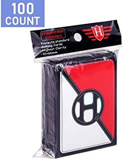 100 Counts Card Sleeves Top Loader fit for Pokemon Card, Soft Baseball Card Sleeves Fit for Football Card, Sports Cards, M...