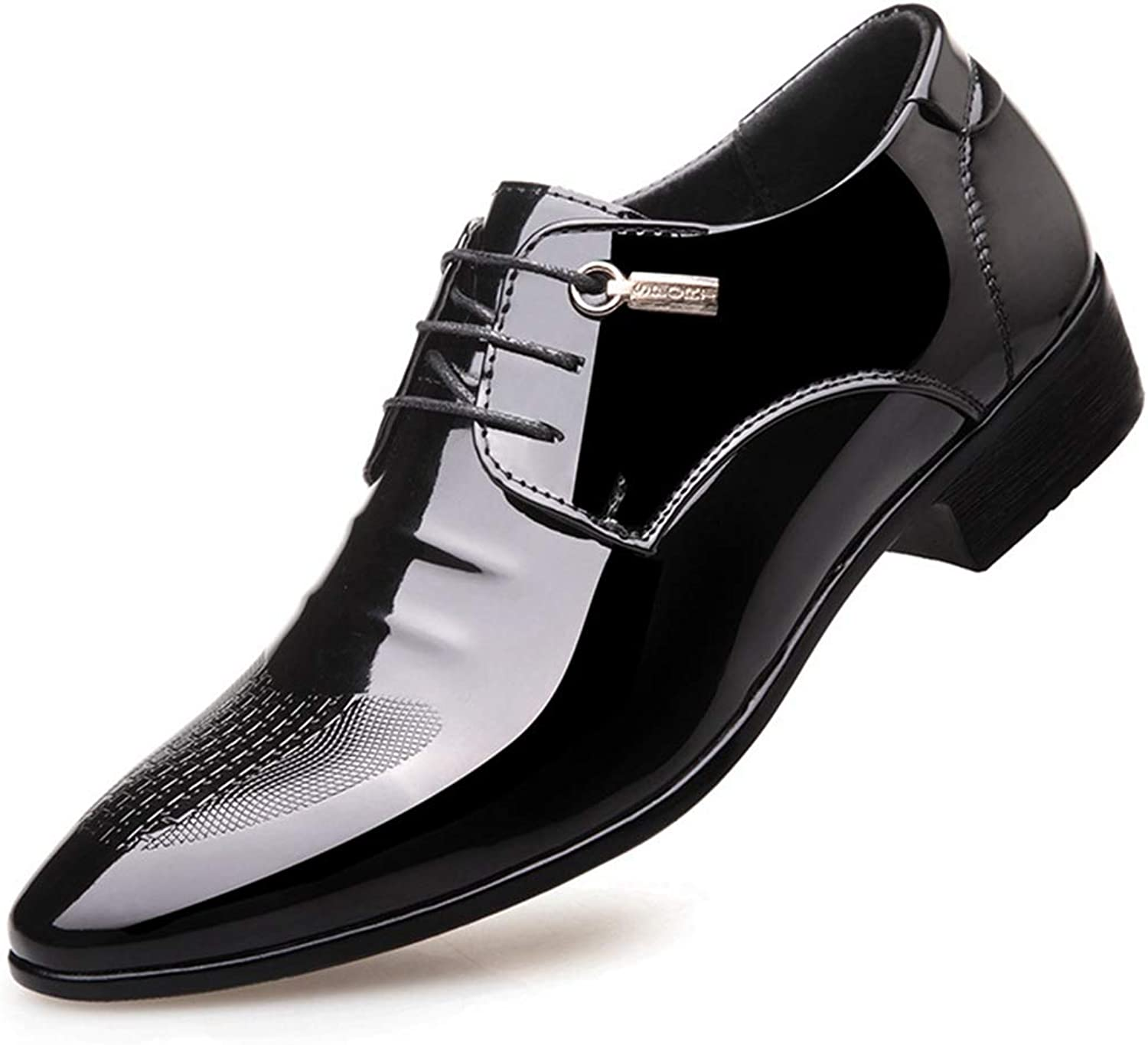 XINBONG Men's Business shoes Black Wingtip Classic Oxford shoes