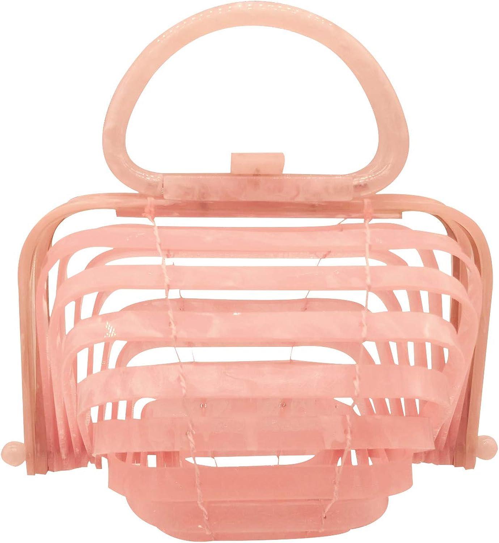 BOKPLD Acrylic Lilleth Clutch Collapsible Tote Bag Top Handle Handbag