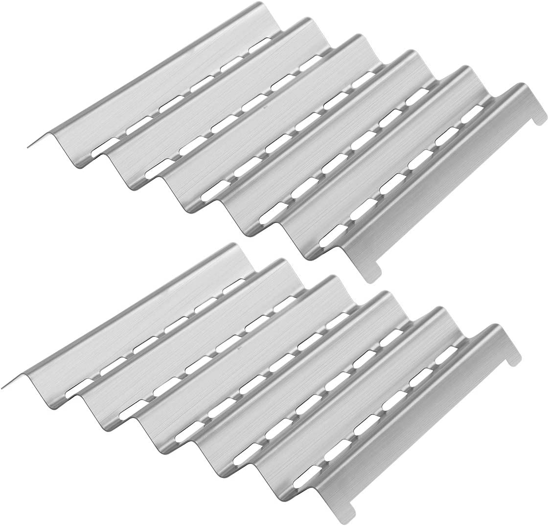 Damile Stainless Steel Grill Heat Plates Shield Burner Cover Flame Tamer, BBQ Gas Grill Replacement Parts for Brinkmann 2500 Pro Series, 4615, 810-2500, 810-2500-0, 810-4615-0, Pro Series 2500, 4615 : Patio, Lawn & Garden