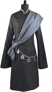 HLIAN 黒執事黒執事アンダーテイカーコスプレ衣装ハロウィンパーティーコスチュームカスタムメイドフルセットハットチェーンとウィッグ (Color : Costume wig, Size : XXL)
