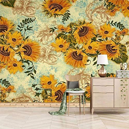 3d tapete Sonnenblume Tapete Fototapeten Vliestapete Wandtapete moderne Wandbild Wand Schlafzimmer Wohnzimmer-280x200cm