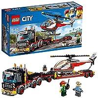 Include 2 minifigure: il conducente del camion e il pilota dell'elicottero Contiene un camion pesante con barre tubolari, tubi di scarico, cassetta degli attrezzi e cabina apribile, rimorchio e un elicottero con rotori funzionanti, cabina di pilotagg...