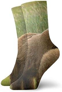 tyui7, Hermosos calcetines de compresión antideslizantes de oso y familia Calcetines deportivos acogedores de 30 cm para hombres, mujeres y niños