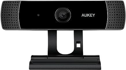 AUKEY - Cámara Web Full HD 1080P con micrófono estéreo, cámara Web para Chat y grabación, Compatible con Windows, Mac y Android