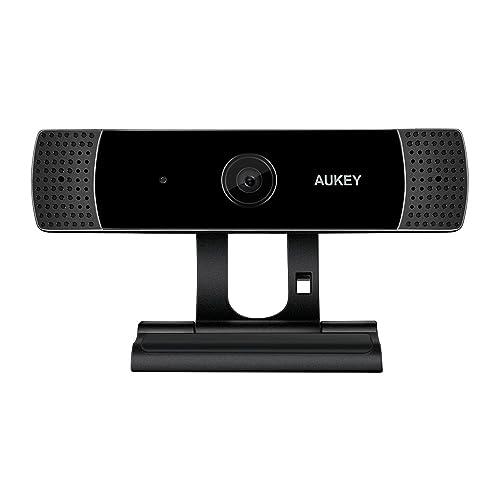AUKEY Webcam 1080P Full HD con Micrófono Estéreo, Cámara Web para Video Chat y Grabación