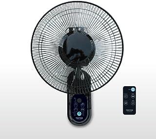 TEKNOS 壁掛け扇風機 フルリモコン フラットガード KI-W302RK ブラック