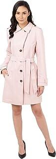 Marks & Spencer Women's Funnel Neck Coat, DUSTED PINK