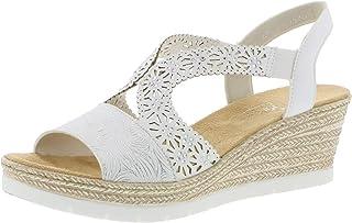 5800f102c1ab Rieker 61916 Femme Sandales compensées,Chaussures d'été,Confortable,Plat