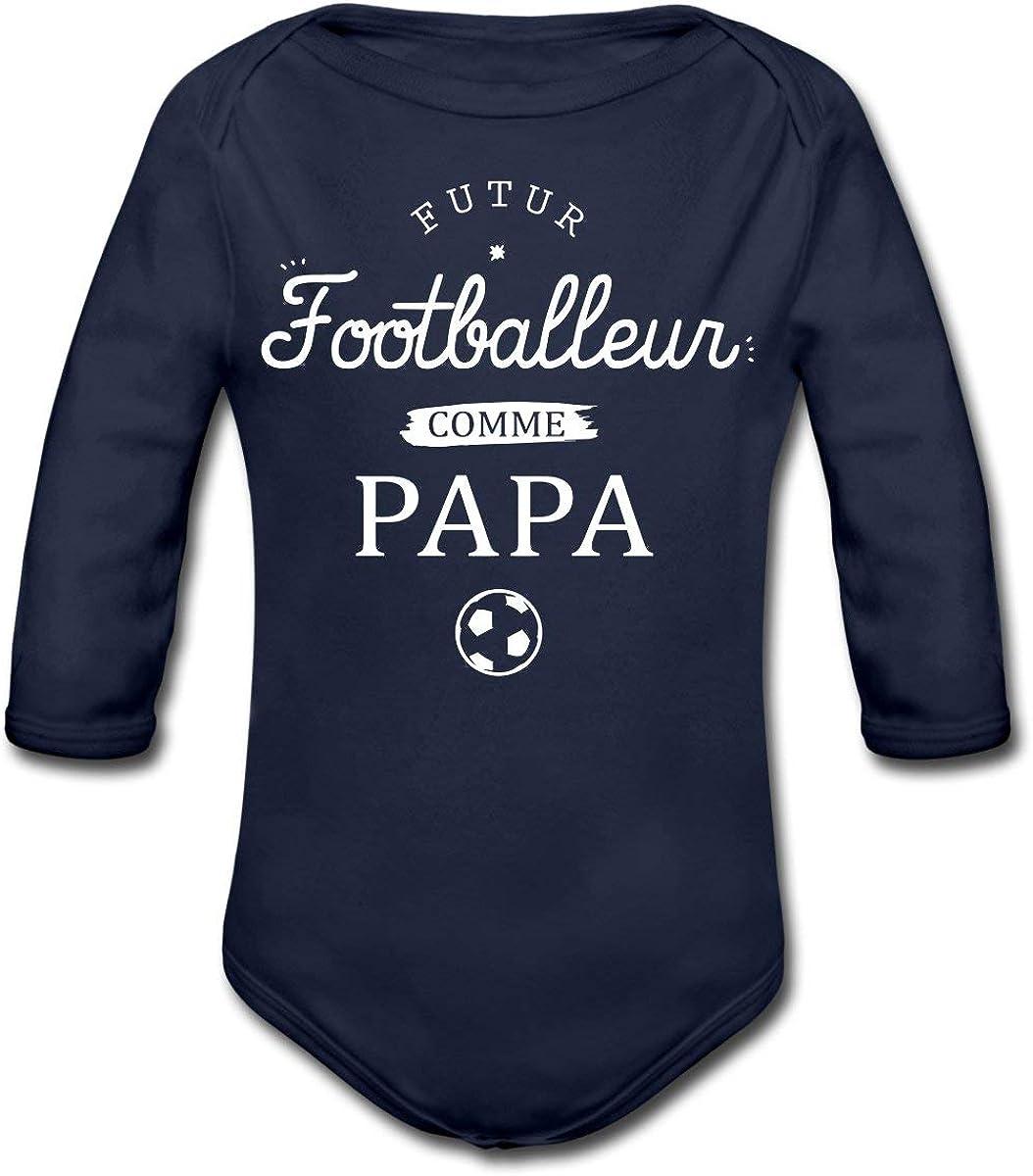 Spreadshirt JAi Un Papa Motard Body B/éb/é Bio Manches Courtes