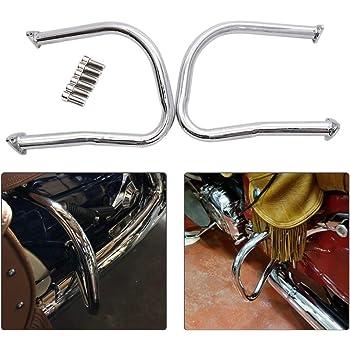 GDAUTO Highway Bar Motorcycle Engine Guard Crash Bar Kit for Indian Chief Dark Horse 2016 2017 2018 2019 Roadmaster 2015-2019 Chrome