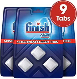 Finish 亮碟 机器清洁块 洗碗机清洁剂 去除污渍和油脂 3 件装 (3 x 3 件)