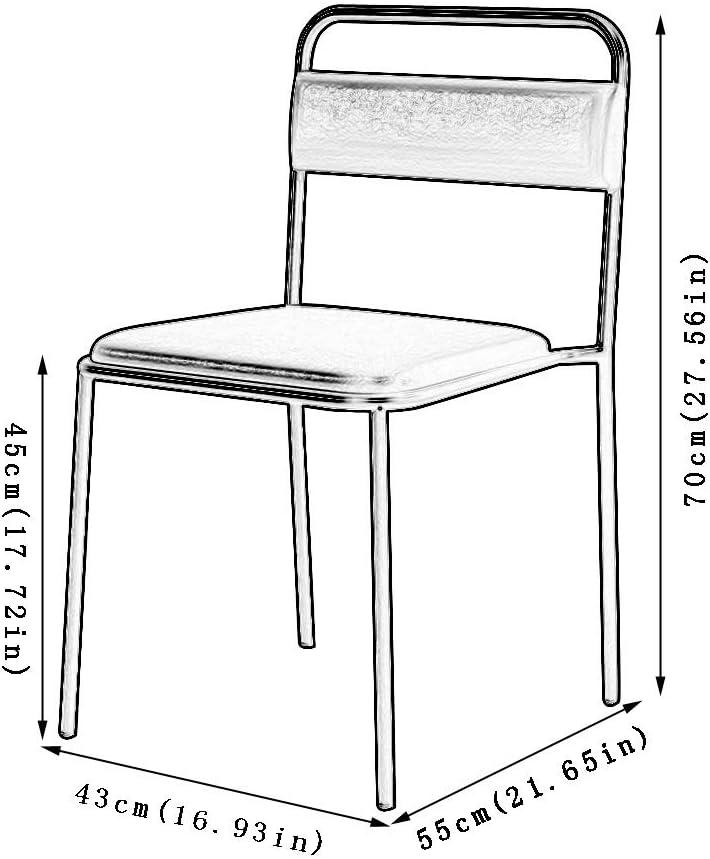 Rétro Chaises Rembourrée,Éolien Industriel Loisir Fer Forgé Café Restaurant Fleuriste Chaise D'angle (Color : Gray) Brown