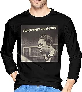 Men's Cotton John Coltrane A Love Supreme T-Shirt Cool Tee Black XXL