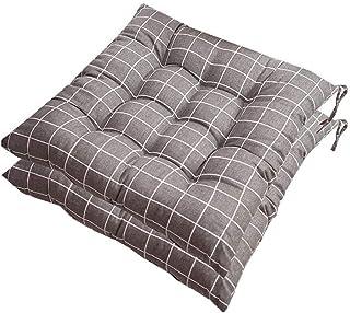 Cojines de asiento al aire libre, cojín de silla, cojines de silla de mimbre cuadrado Cojines de asiento de mimbre grueso para cocina Jardín Patio Oficina en el hogar, cojín de silla, 40X40 cm, D, 4