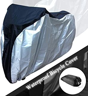 "2win2buy Durable Bicycle Cover 75""*26""*39 ""Waterproof Snowproof Dustproof Sun Block Outdoor Bike Cover for Mountain Bike, Electric Bicycle,Multiple Kids' Bike and motorcycle"