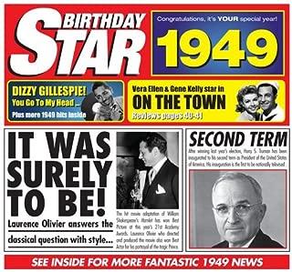 1949 BIRTHDAY GIFT - 1949 Chart Hits CD and 1949 Birthday Card