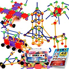 More Pieces Than Other Similar Sets - This 176-piece set contains more balls, more wheels, and more connectors than other similar sets. It is the most value set on Amazon in terms of versatility and number of pieces. Because we're so confident you'll...