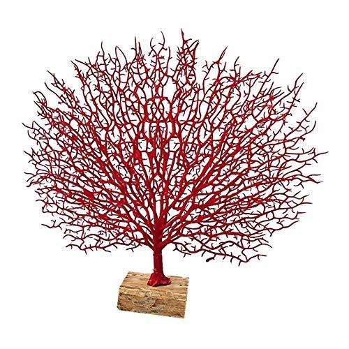 MagiDeal Estatuilla de Rama de árbol de Coral con Base de Resina decoración de Coral Marino Ornamentos para la Oficina en casa - Rojo