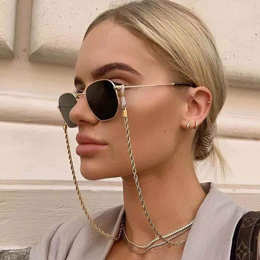 Asooll Gold Eyeglass Chain San Diego Mall Cross Sales results No. 1 Sunglass Strap Necklace Holder