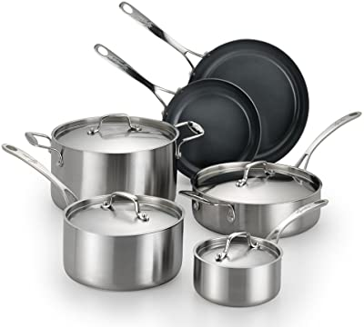 Axia Stainless Ceramic 10-Piece Set