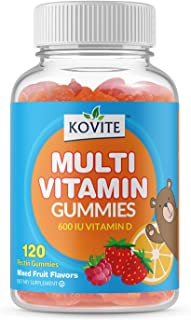Kovite Childrens Multi Vitamin & Mineral Complete Formula with Choline Chewable - Assorted Fruit Flavor 120 Gummies