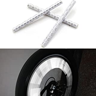 12 PCs Gaddrt V/élo Bike v/élo /à rayons r/éflecteurs r/éfl/échissants de roue de s/écurit/é de remplissage de stockage