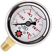 Sponsored Ad - LSD TUNING USA Pressure Gauge For Fuel and Oil - Liquid Filled 0-100 Psi