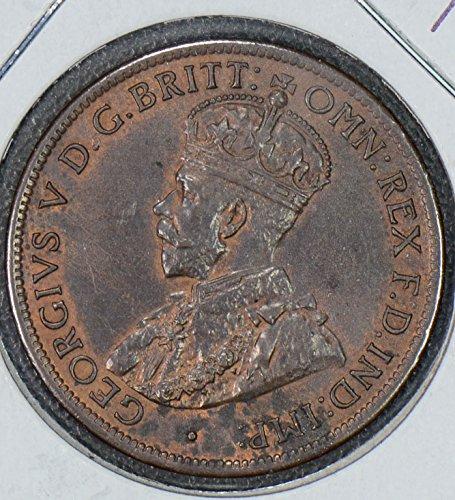 1919 AU AU0036 Australia 1/2 Penny half DE PO-01