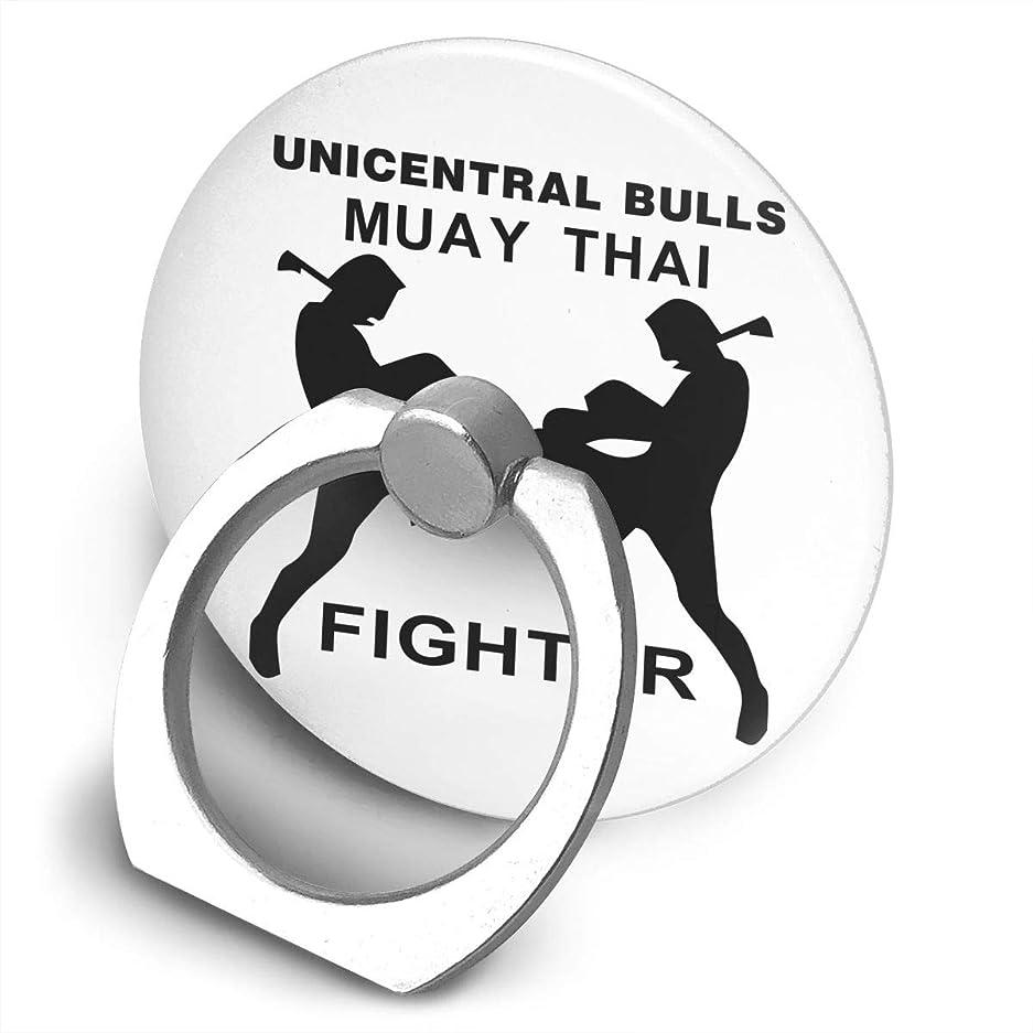 前置詞遅らせるガチョウFighter Unicentral Bulls Muay Thai ザ?ファイター スマホ リング ホールドリング 指輪リング 薄型 おしゃれ スタンド機能 落下防止 360度回転 タブレット/スマホ IPhone/Android各種他対応