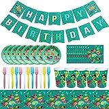66 Pcs Super Heroe Party Supplies, Super heroe Vajilla de Cumpleaños de Niños Set de Fiesta de Cumpleaños de Super heroe Feliz Cumpleaños Decoraciones Accesorio, Pancarta Regalos Tema Carnaval