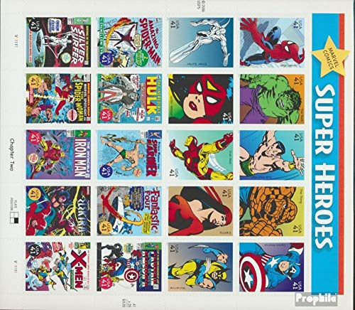 Prophila Collection Stati Uniti 4247-4266 Folienblatt (Completa Edizione) 2007 Marvel-Comics (Francobolli per i Collezionisti) Fumetto