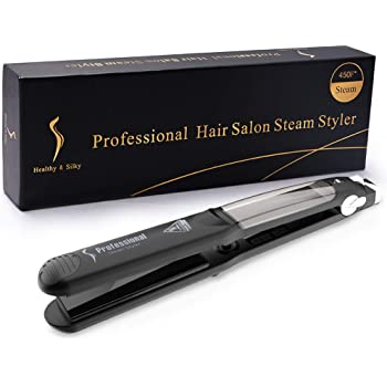 CHJPRO Professional Argon Oil Steam Flat Iron Hair