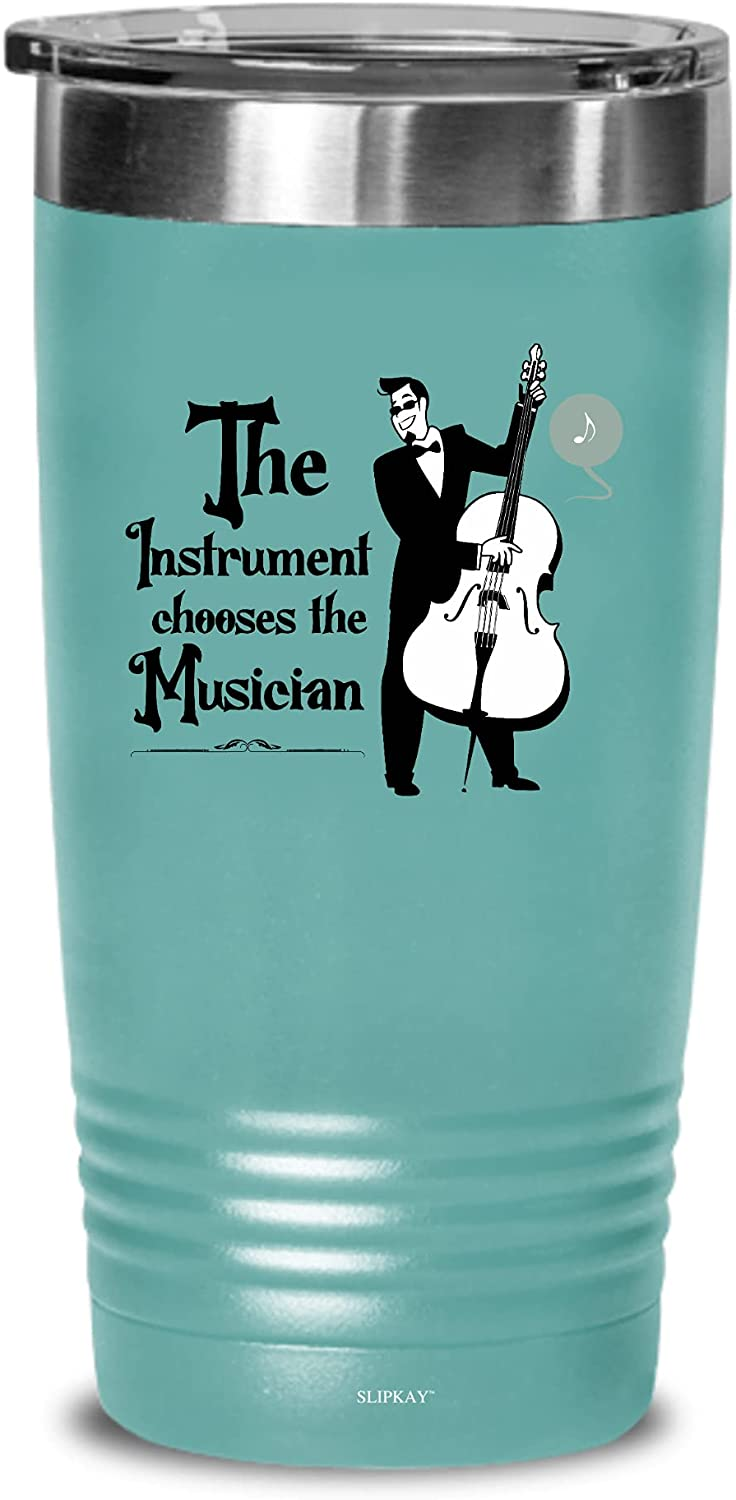 Bass Upright The Instrument Chooses Tumbler Gifts Selling 20oz Musician Popularity