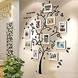 ZhuFengshop Pegatinas de pared para pared, diseño de árbol genealógico y marcos de fotos, para decoración del hogar, oficina, hotel (color: blanco)