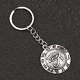 TOBENOI Creativo Llavero Personalidad Mal de Ojo Amuleto de Metal Llavero Bolsa de Coche Llavero Colgante Encanto Accesorio Regalo