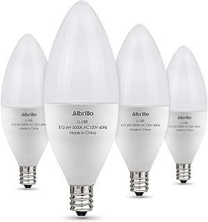 Albrillo E12 Bulb Candelabra LED Bulbs, 60 Watt Equivalent, Daylight White 5000K LED Chandelier