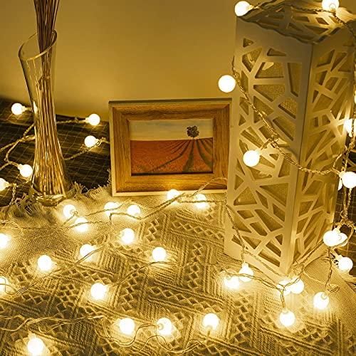 Lepro Lichterkette Kugeln 10M 100 LEDs, Partybeleuchtung Außen 8 Modi, ideale Strom Weihnachtsbeleuchtung für Innen Outdoor Balkon Garten...