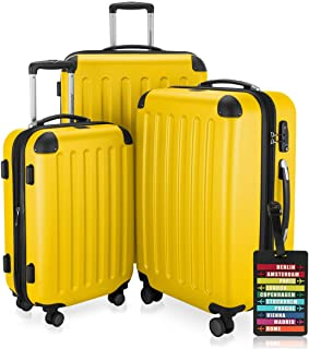 Spree – 3er Koffer-Set + Kofferanhänger – Handgepäck 55 cm, mittelgroßer..