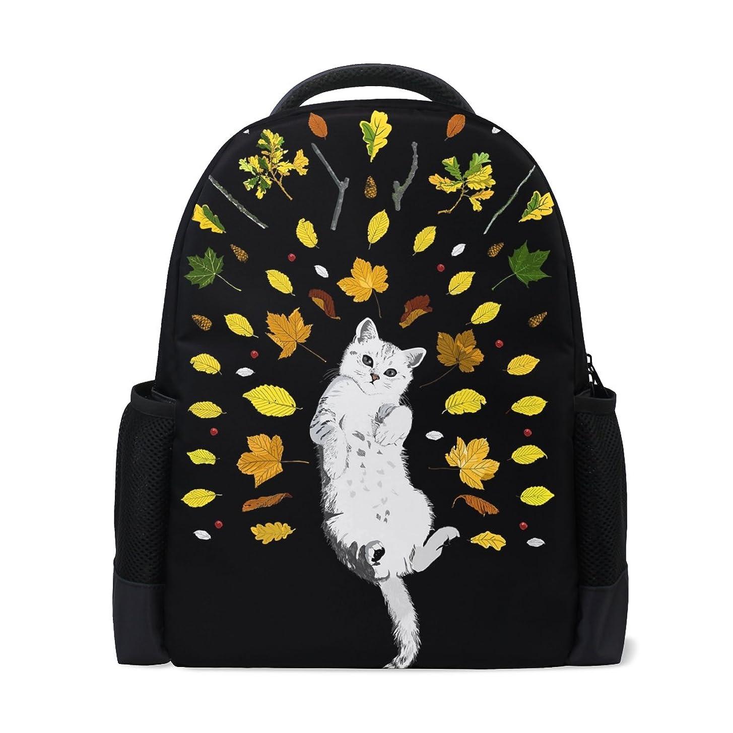 避けられないエンジニア有毒AOMOKI バッグ リュックサック メンズ レディース 通勤 通学 旅行 大容量 秋 葉 猫