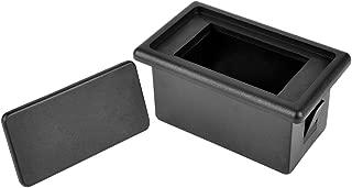 AutoEC Rocker Switch Panel Switch Holder Housing Kit - Black Plastic